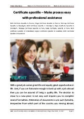 Certificate apostille   make process easy with professional assistance