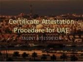 Procedure for Certificate Attestation for UAE