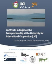 Program Outline in Regenerative Entrepreneurship