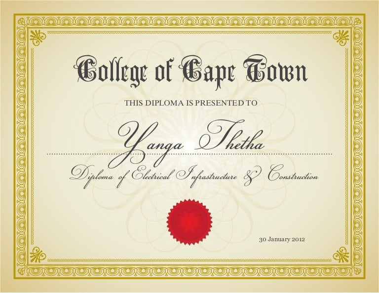 Completion Certificate For Electrical Infrastructure And Construction
