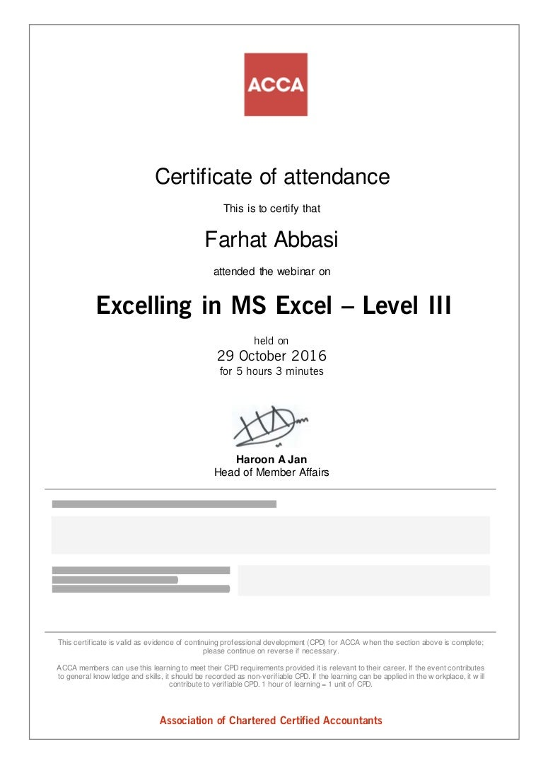 Certificate of participation excelling in ms excel level iii 1betcityfo Gallery