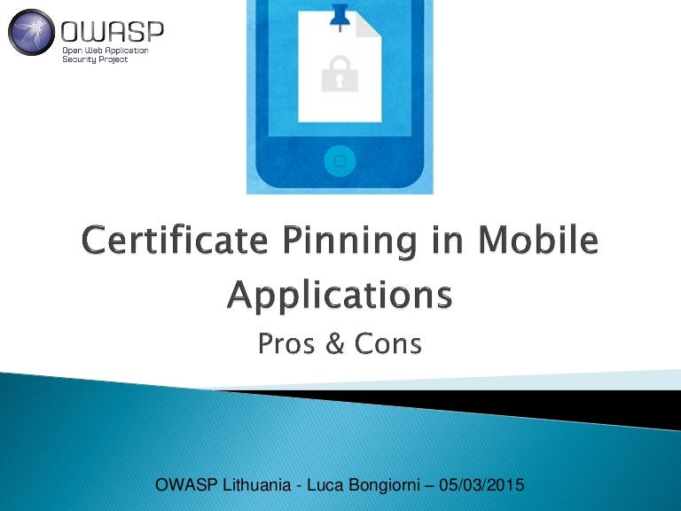 Certificate Pinning In Mobile Applications