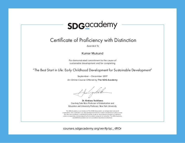 Certificatethe Best Start In Life Early Childhood Development For Su