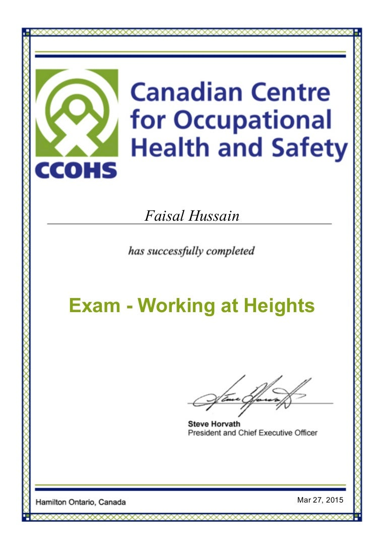 Certified in health and safety for working at heights xflitez Images