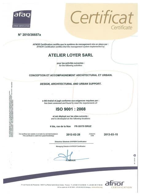 Certification afaq 9001   14001