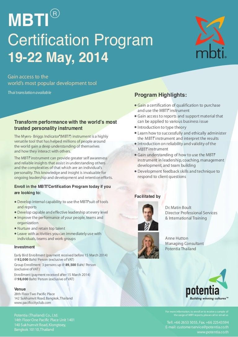 Mbti certification program 19 22 may 2014 xflitez Choice Image