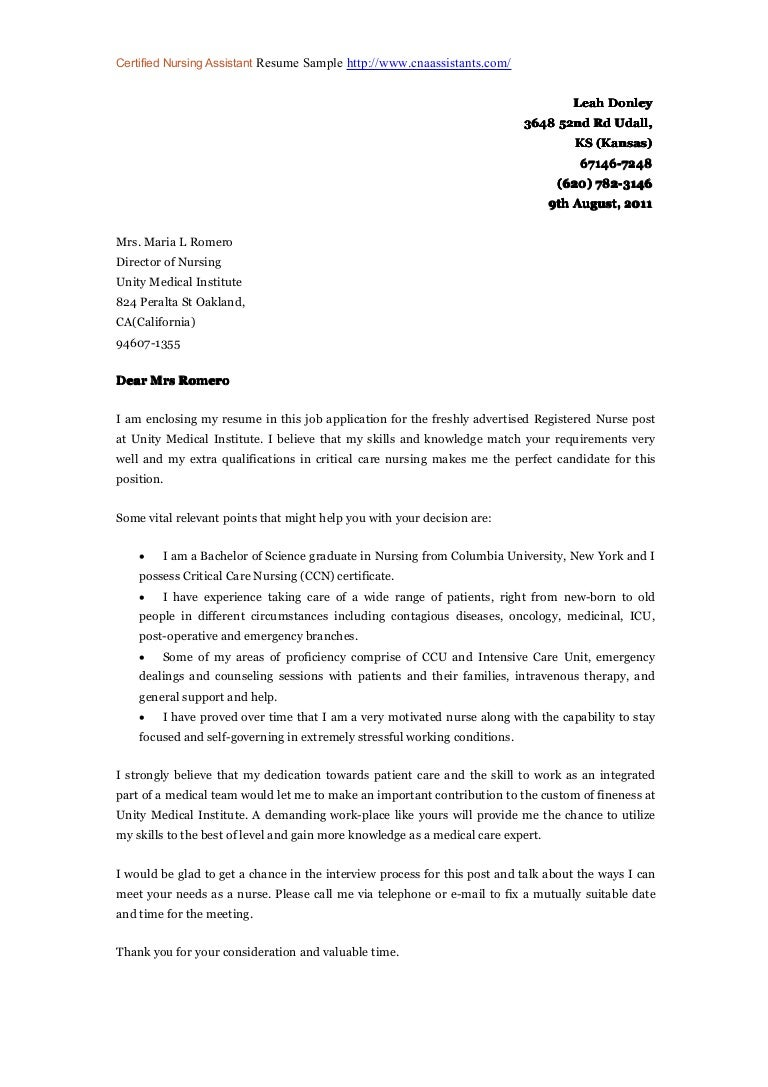 application letter for nurse reliever - Nursing Cover Letters Examples