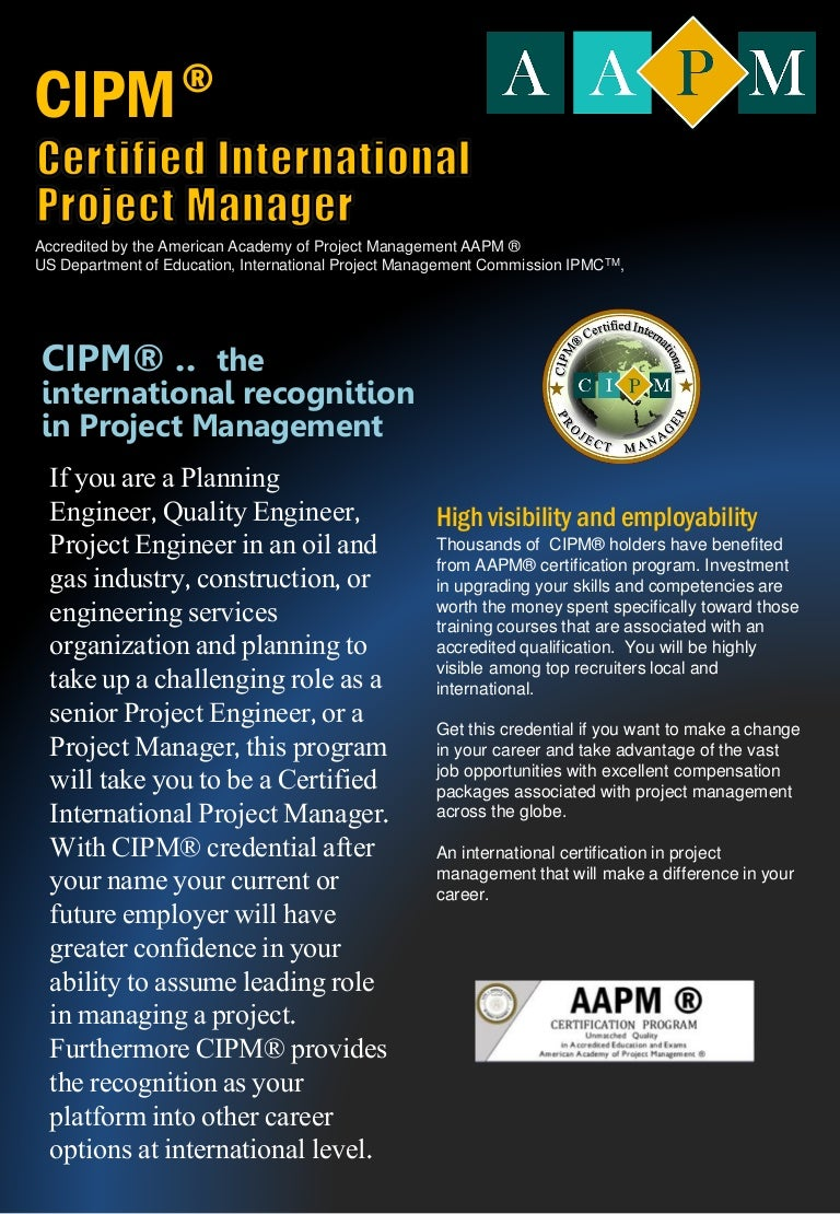 Certified international project manager cipm xflitez Image collections