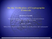 Cerutti--Verification of Crypto Protocols (postgrad seminar @ University of Brescia)