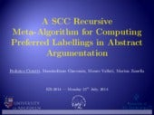 A SCC Recursive Meta-Algorithm for Computing Preferred Labellings in Abstract Argumentation