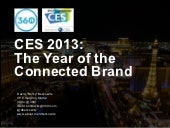 CES 2013: The Year of the Connected Brand