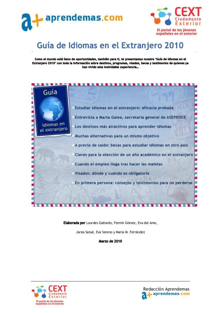 Guía de idiomas en el extranjero