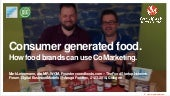 Consumer generated food. How food brands can use CoMarketing.