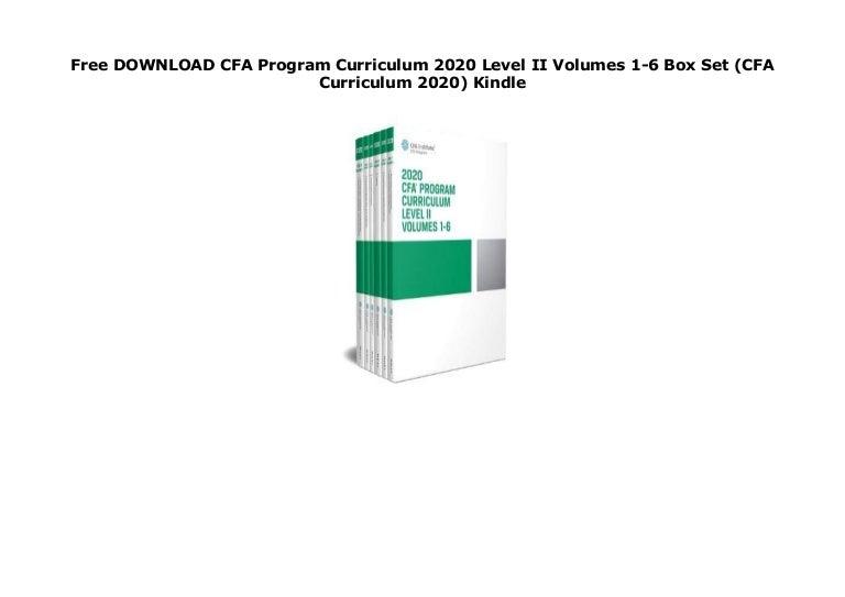 cfa level 2 curriculum free download