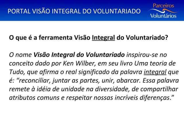 Apresentação 21º Encontro Estadual da Rede Parceiros Voluntários
