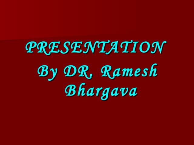 case presentation dr ramesh bhargava