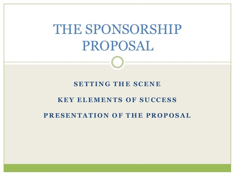 The Sponsorship Proposal
