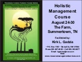 Welcome to Holisitc Management!