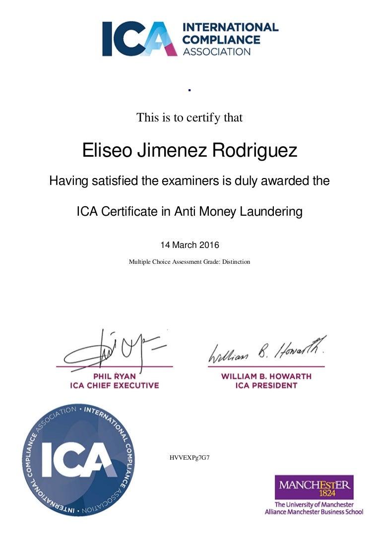 Aml certificate 1betcityfo Choice Image
