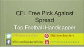 Cfl free sports handicapper winner against spread