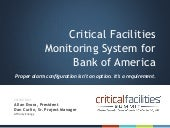 Case Study: Critical Facilities Monitoring System