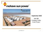Introducing the Hualapai Valley Solar Project