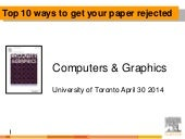 Top 10 ways to get your paper rejected at #CAGJournal