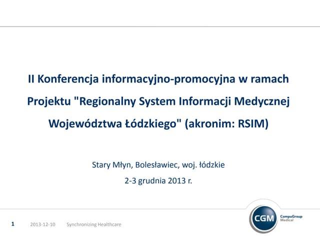 Compu Group Medical (CGM) - Prezentacja firmy