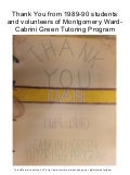 """Thank You. Dan Card (1989-90) From Students and Volunteers"