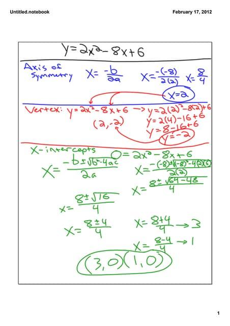 Ch.12.5 Quadratic Formula