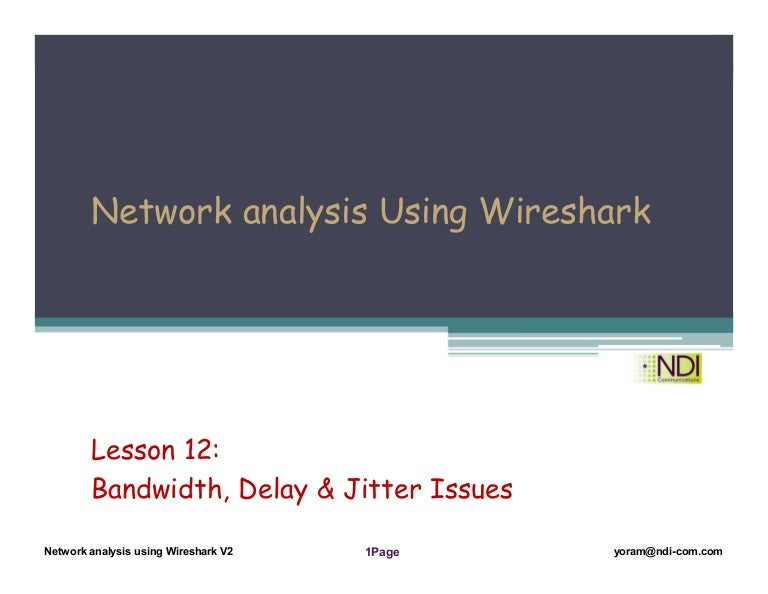 Network analysis Using Wireshark Lesson 12 - bandwidth and