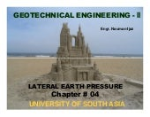 Geotech. Engg. Ch#04 lateral earth pressure