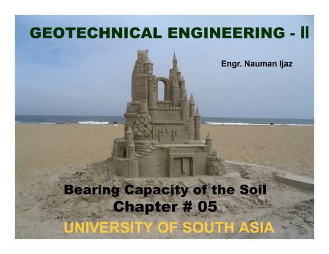 Geotech Engg. Ch#05 bearing capacity