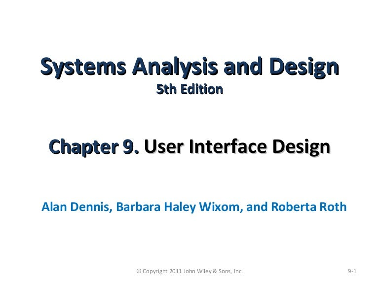 Ch09 User Interface Design
