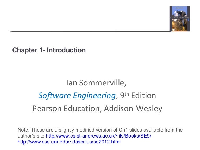 ian sommerville software engineering 9th edition ch1 rh slideshare net Civil Engineering Manual Engineering Design Manual