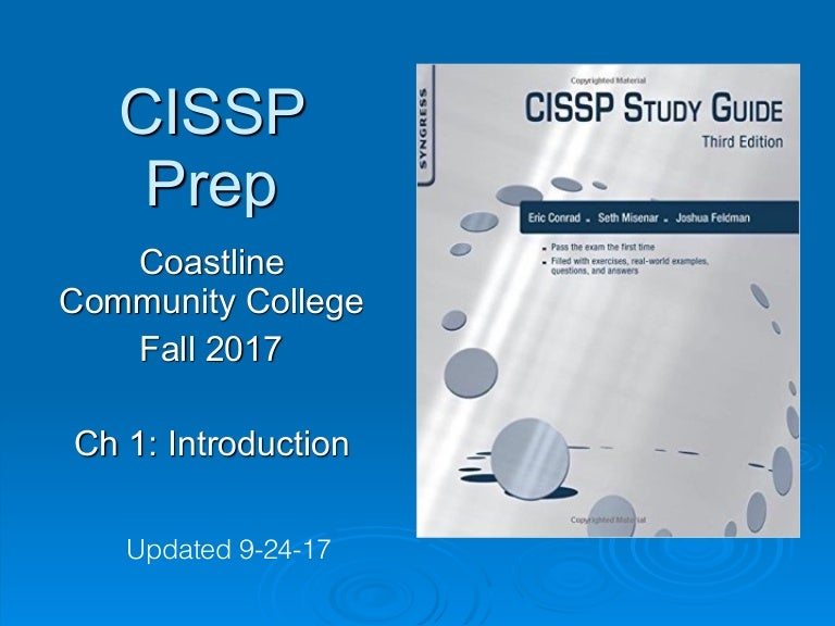 CNIT 125: Ch 1 Introduction to CISSP