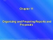 Organizing and preparing reports and proposals