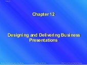 Designing and delivering business presentations