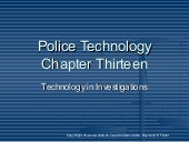 Technology in Investigations
