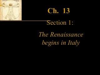 Ch13 Italian renaissance