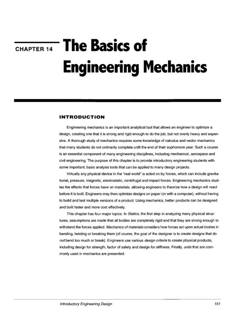 Ch14the basics of_engineering_mechanics