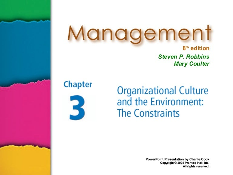Ch 3 org culture and the environment (1)