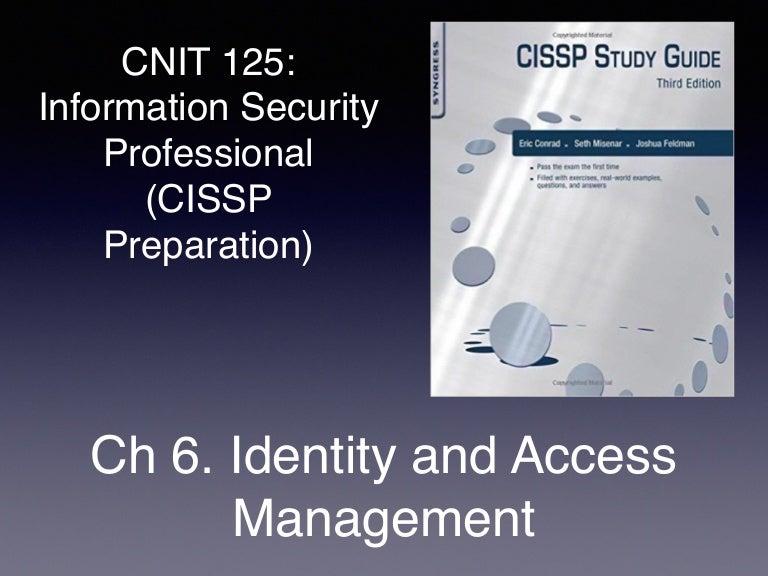 CISSP Prep: Ch 6  Identity and Access Management