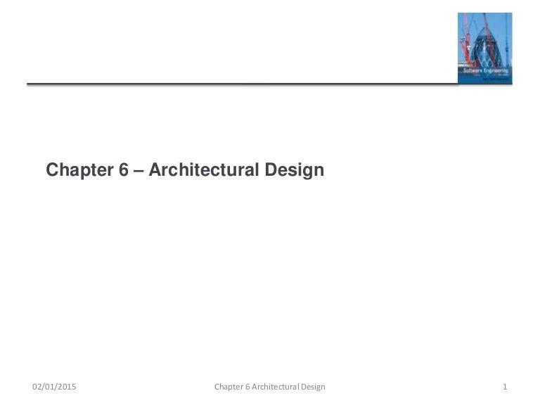 Ch6 Architectural Design