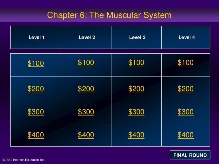 Ch 6 Muscle Jeopardy Review Game