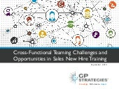Challenges and Opportunities in Sales New Hire Onboarding & Training