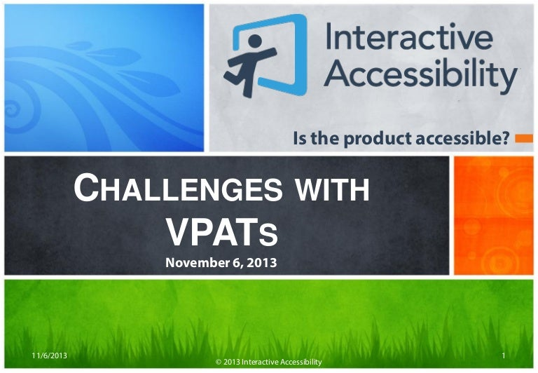Challenges with VPATs