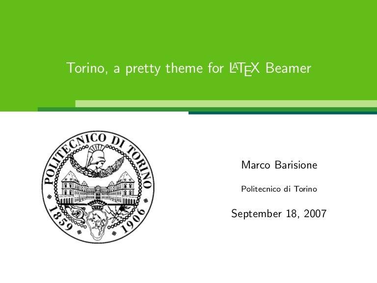 torino beamer, Presentation templates