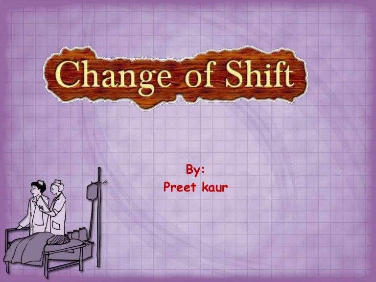 Change Of Shift Report Suyhi Margarethaydon Com