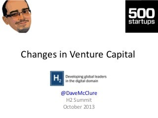 Changes in Venture Capital & Startup Ecosystem (#H2Osummit)